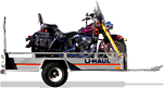 Motorcycle trailer rental service